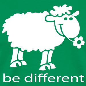 Be different le mouton heureux - T-shirt Premium Homme