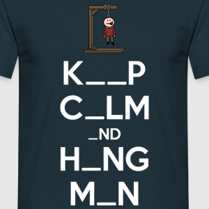 Keep Calm and Hangman (dark) T-Shirts - Men's T-Shirt