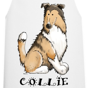 feliz Collie de pelo largo - Rough Collie Delantales - Delantal de cocina