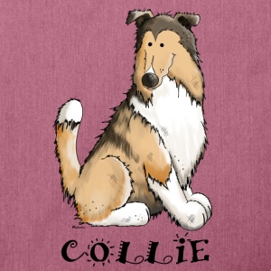 feliz Collie de pelo largo - Rough Collie Bolsas y mochilas - Bandolera de material reciclado