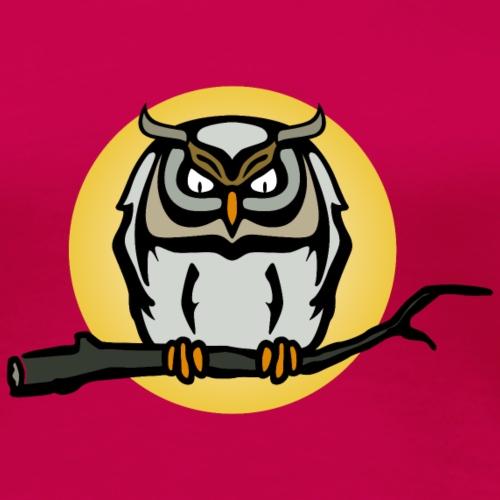 Eule Vollmond Night Owl Nightmare Uhu