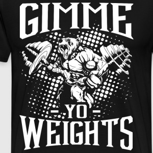 Gym Weights Sports Quotes - Men's Premium T-Shirt