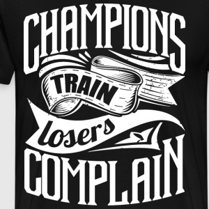 Champ Gym Quotes Sports - Men's Premium T-Shirt