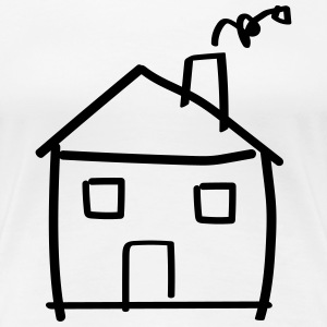 House drawing T-Shirts - Women's Premium T-Shirt