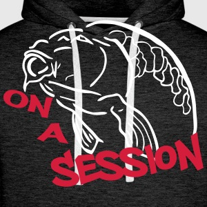 on a session carp Hoodies & Sweatshirts - Men's Premium Hoodie