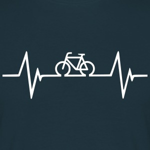 Bicycle Heartbeat T-Shirts - Men's T-Shirt