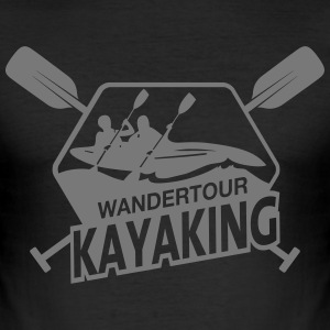 Kayaking III T-Shirts - Männer Slim Fit T-Shirt