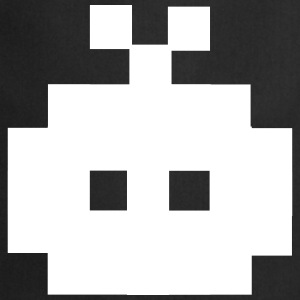 8 Bit Invader, 8 Bit Monster, Pixel Invader Kookschorten - Keukenschort