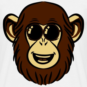 dear sweet monkey chimp sunglasses T-Shirts - Men's T-Shirt