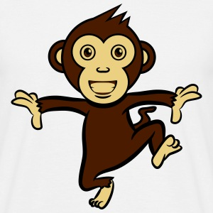 run romp monkey funny T-Shirts - Men's T-Shirt