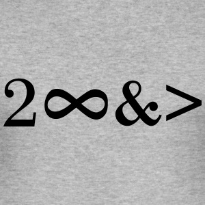 To Infinity and beyond! Love, Valentines Day, Math Tee shirts - Tee shirt près du corps Homme