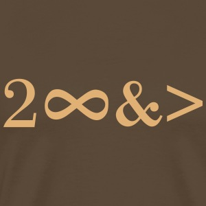 To Infinity and beyond! Love, Valentines Day, Math T-shirts - Mannen Premium T-shirt
