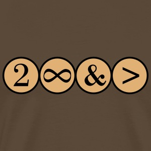 To Infinity and beyond! Love, Valentines Day, Math - Männer Premium T-Shirt
