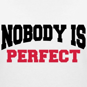Nobody is perfect T-shirts - T-shirt med v-ringning dam