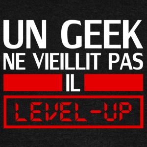 un geek ne vieillit pas il level up Sweat-shirts - Pull Femme col bateau de Bella