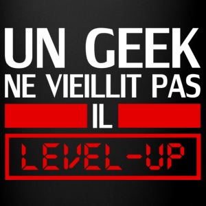 un geek ne vieillit pas il level up Tazze & Accessori - Tazza monocolore
