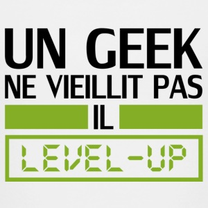 un geek ne vieillit pas il level up Shirts - Teenage Premium T-Shirt