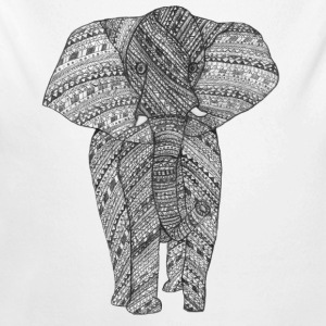 Elephant black and white Baby Bodysuits - Longlseeve Baby Bodysuit