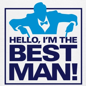 Hello, I m the best man Tops - Women's Tank Top by Bella