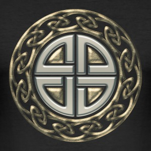 Celtic shield knot, Protection Amulet, Viking T-skjorter - Slim Fit T-skjorte for menn