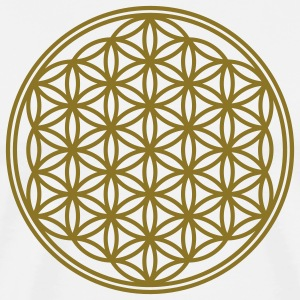 Vector - Flower of Life - 01, 1c, sacred geometry, energy, symbol, powerful, healing, protection, cl Camisetas - Camiseta premium hombre