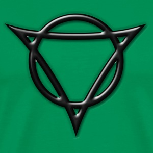 AUM - strength and radiance, digital, green, Antares symbol system, powerful symbol T-shirts - Mannen Premium T-shirt
