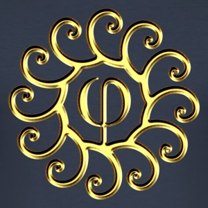 Sacred Phi, golden spirals, Fibonacci, evolution T - Männer Slim Fit T-Shirt