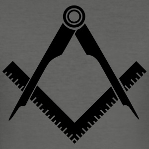 Masonic symbol, angular, circular, freemason T-Shirts - Men's Slim Fit T-Shirt