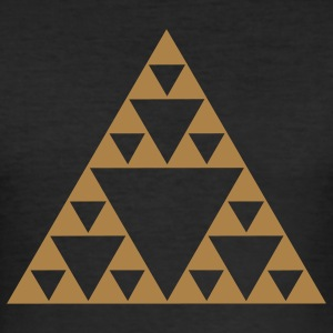 Sierpinski triangle, fractal, geometry,mathematics T-Shirts - Men's Slim Fit T-Shirt