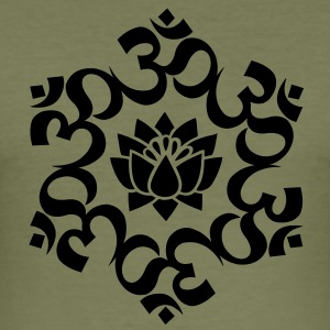 OM Lotus, Meditation, Yoga, AUM, Buddhismus T-Shir - Männer Slim Fit T-Shirt