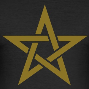 Star of the Magi - Pentagram - Sign of intellectual omnipotence and autocracy. Vector, Blazing Star, powerful symbol of protection T-Shirts - Men's Slim Fit T-Shirt