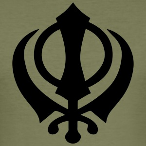 Khanda Sikh symbol swords religion Sikhism T-shirts - Slim Fit T-shirt herr
