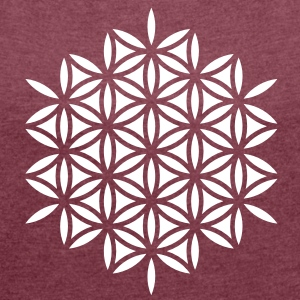 Flower of life, ss T-Shirts - Women's T-shirt with rolled up sleeves