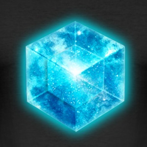 Hypercube 4D - TESSERACT , digital, Symbol - Dimensional Shift, Metatrons Cube,  T-shirts - Herre Slim Fit T-Shirt