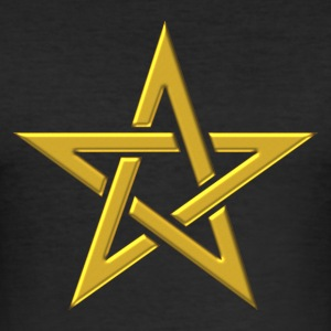Star of the Magi - Pentagram - Sign of intellectual omnipotence and autocracy. gold, Blazing Star, powerful symbol of protection Camisetas - Camiseta ajustada hombre