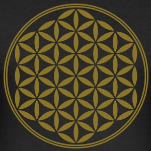 Vector - Flor de la vida - 02, 1c, sacred geometry, energy, symbol, powerful, healing, protection, cl Camisetas - Camiseta ajustada hombre