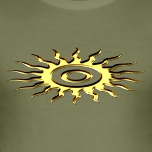 Sun symbol, digital, gold T-Shirts - Men's Slim Fit T-Shirt