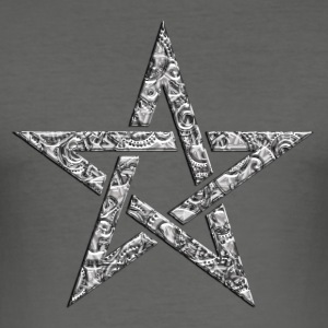 Star of the Magi - Pentagram - Sign of intellectual omnipotence and autocracy. digital, Blazing Star, powerful symbol of protection T-shirt - Maglietta aderente da uomo