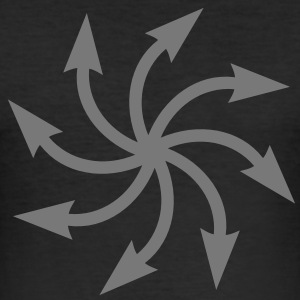 Symbol of chaos, Chaos Star, vector, everything has meaning and magic power! Power symbol, Energy symbol T-shirt - Maglietta aderente da uomo