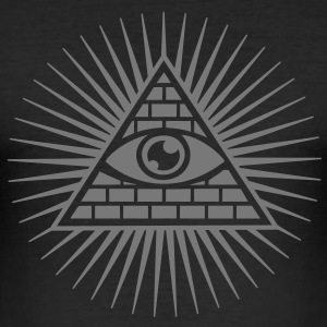 all seeing eye -  eye of god / pyramid - symbol of Omniscience & Supreme Being T-Shirts - Men's Slim Fit T-Shirt