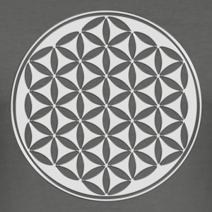 Fleur de vie - Flower of life - silver - sacred geometry - power of  and energizing, energy symbol Tee shirts - Tee shirt près du corps Homme