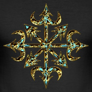 Chaos Star, Symbol of chaos, digital, everything has meaning and magic power! Power symbol, Energy symbol T-shirt - Maglietta aderente da uomo