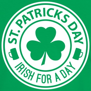 St Patricks Day - Irish For A Day 1C T-Shirts - Männer Kontrast-T-Shirt