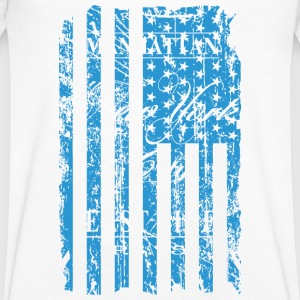USA - NewYork - Flag   Vintage Look T-Shirts - Men's V-Neck T-Shirt