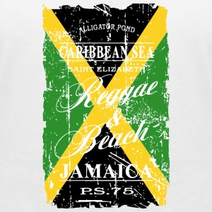 Jamaica Flag - Vintage Look T-Shirts - Women's V-Neck T-Shirt