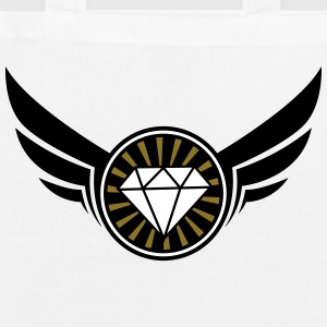 diamant_fluegel_3f Bags & Backpacks - EarthPositive Tote Bag
