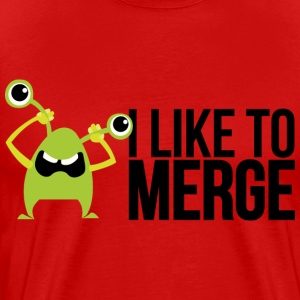 Monster mit I like to merge T-shirts - Herre premium T-shirt
