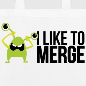 Monster mit I like to merge Borse & zaini - Borsa ecologica in tessuto