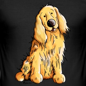Happy Cocker Spaniel T-Shirts - Männer Slim Fit T-Shirt