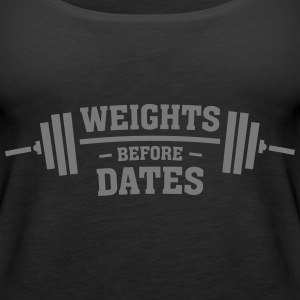 Weights Before Dates Toppe - Dame Premium tanktop